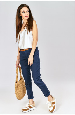 Spodnie z paskiem new collection made in Italy