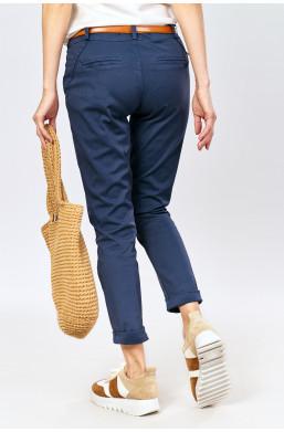 Spodnie z paskiem new collection made in Italy, detal