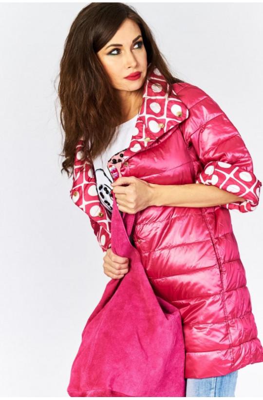 kurtka płaszcz dwustronny new collection,dwustronny płaszcz,różowy płaszcz