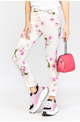 Spodnie w kwiaty new collection, made in italy