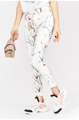 Spodnie w kwiaty louis francois new collection, made in italy