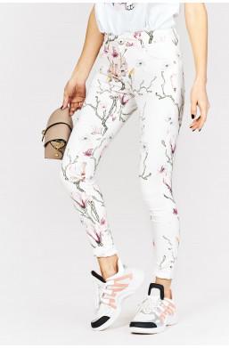 Spodnie w kwiaty louis francois new collection