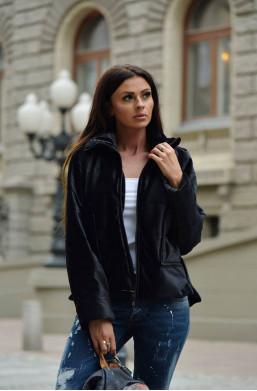 kurtka velvet jacket O la voga czarny