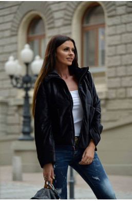 kurtka velvet jacket O la voga czarny, detal, najniższe ceny