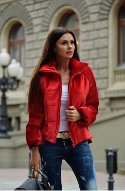 kurtka velvet jacket O la voga czerwona, hit
