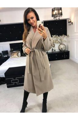 Płaszcz luxury O la voga beżowy