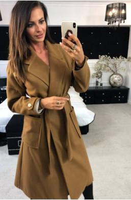 Płaszcz luxury O la voga brązowy