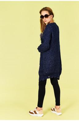 Sweter kardigan MAXI Amo Roma new collection made in Italy, detal ciechanów warszawa,elegancki sweter