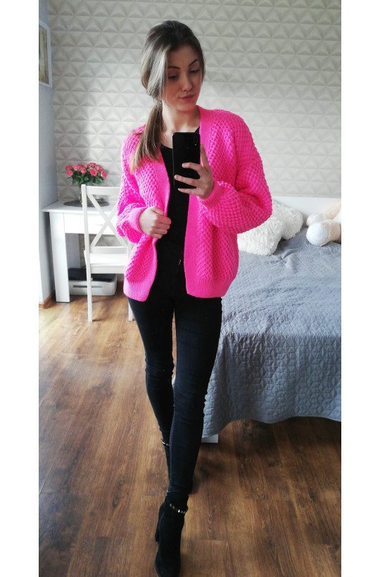 Sweter różowy bomberka Primark, detal ciechanów warszawa