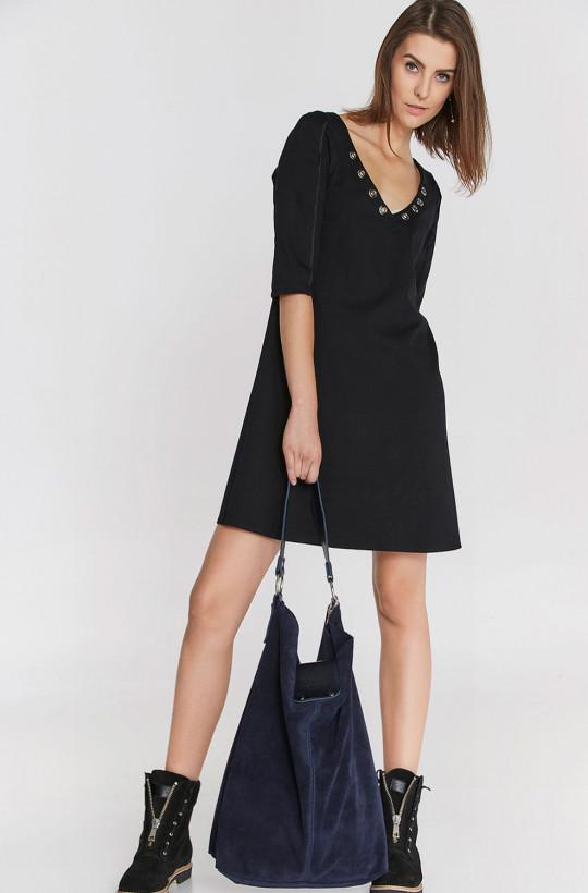 sukienka czarna mini codzienna