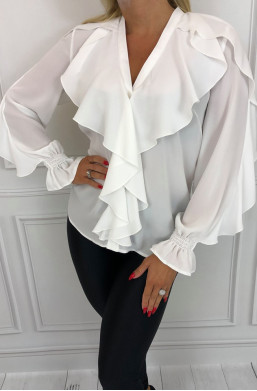 Bluzka Zaraa Marelina detal ciechanów warszawa,modna bluzka,bluzka z falbsanami,oryginalna bluzka,kobieca bluzka