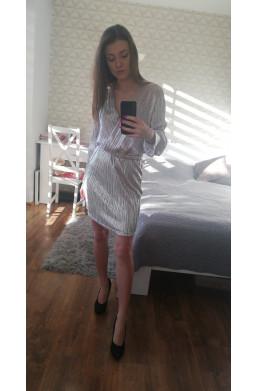 Sukienka ficcarelli na andrzejki połyskująca