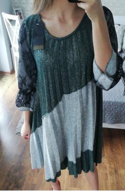 sukienka plisowana new collection made in Italy,sukienka na długi rękaw,Ciechanów