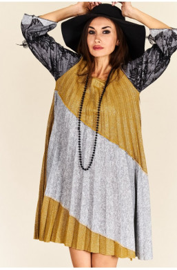 sukienka midi plisowana new...