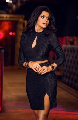 Sukienka Komplet glaw tear O La Voga czarny silver sexy ciechanów,krótka sukienka,obcisła sukienka