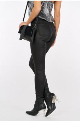 Spodnie woskowane basic new collection made in Italy czarny ciechanów