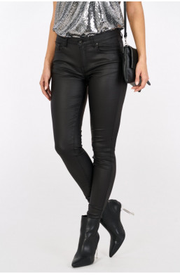 Spodnie woskowane basic new collection made in Italy czarny warszawa
