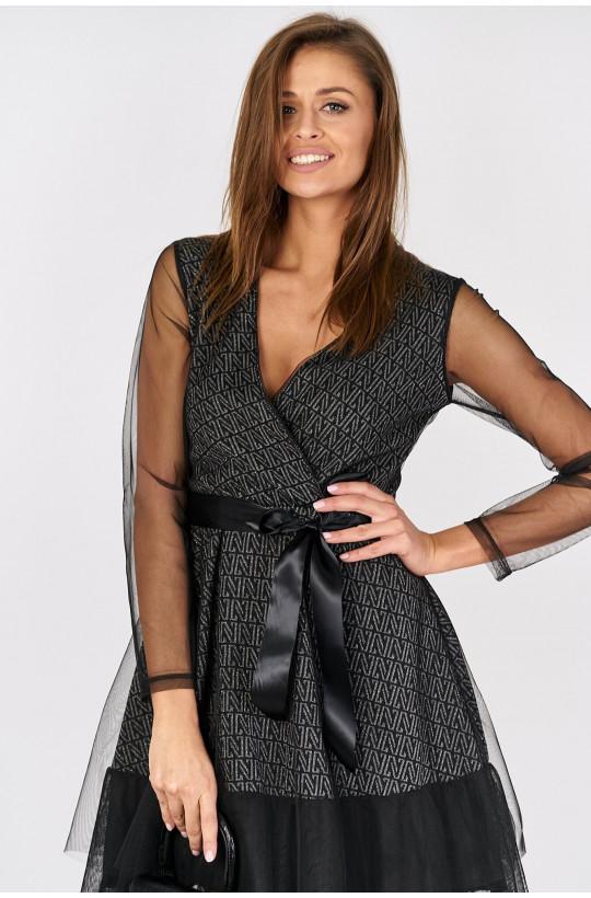 Sukienka czarna na imprezę new collection made in Italy czarny, ciechanów na sylwestra sukienka,modna sukienka,krótka sukienka