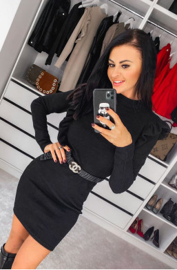 Sukienka półgolf lotte O La Voga czarny