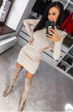Sukienka półgolf lotte O La Voga, sweterkowa sukienka,krótka sukienka,obcisła sukienka,Ciechanów