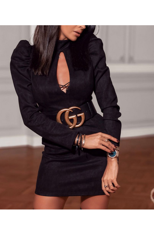 Sukienka klasyczna patty O La Voga czarny