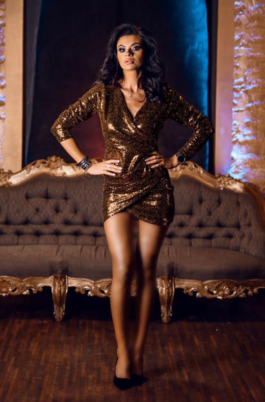 Sukienka dance queen O La Voga,sukienka na imprezę,krótka sukienka,obcisła sukienka
