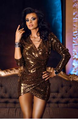 Sukienka dane queen O La Voga sylwester, cekinowa sukienka,obcisła sukienka