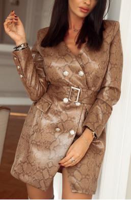 Sukienka żakiet Shannon print wężowy O La Voga ciechanów