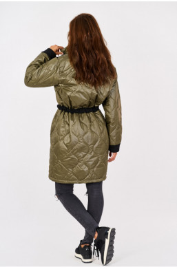 Kurtka płaszcz wiosenny new collection made in Italy khaki,elegancki płaszcz,wiosenny płaszcz,modnie,stylowo