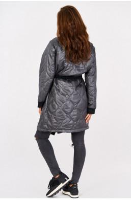 Kurtka płaszcz wiosenny new collection made in Italy czarny,płaszcz do kolan,płaszcz ze stójką,ciechanów