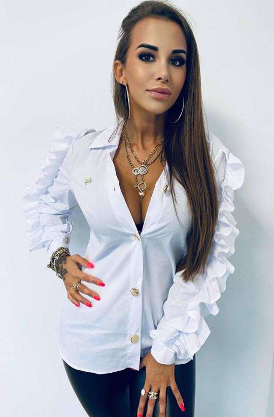 """Koszula bawełniana """"aniołek """" Lola Bianka,elegancka koszula,biała koszula,modna koszula"""