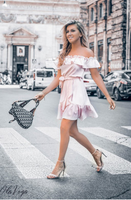 """Sukienka ,,OLIVIA"""" O La Voga,krótka sukienka,zwiewna sukienka,sukienka na lato"""