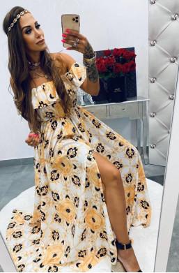 Sukienka MAXI Versace white Lola Bianka, długa sukienka,sukienka hiszpanka