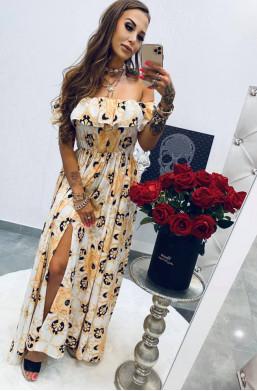 Sukienka MAXI Versace white Lola Bianka