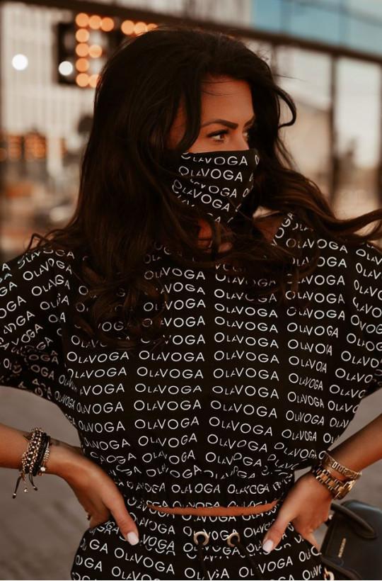 "Maseczka ""OLV PRINT"" czarna O la voga"