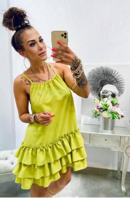 sukienka na ramiączka,sukienka na lato,sukienka z falbaną,sukienka Lola Bianka