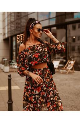 """sukienka asymetryczna w kwiaty, komplet  ,,MAXI flowers""""O La Voga,długa sukienka,elegancka sukienka"""