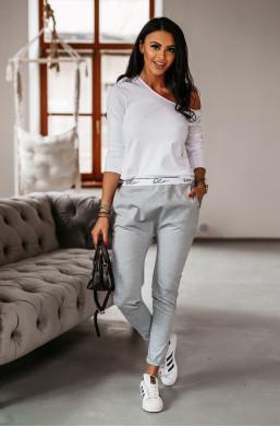 Spodnie baggy O La Voga szare, sportowe spodnie o la voga, spodnie do ćwiczeń o la voga