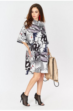 Sukienka gazeta, wzory made...
