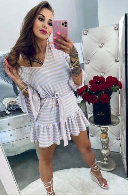 Sukienka tunika pasiak Lola Bianka,sukienka na lato,,sukienka  w paski,sukienka z paskiem