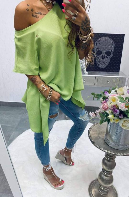 Bluzka tunika chanelka limonka Lola Bianka,długa tunika,oryginalna tunika.limonkowa tunika.modna tunika