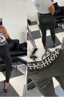 Spodnie czarne z wysokim Paparazzi,czarne spodnie,długie spodnie,spodnie modelujące sylwetkę