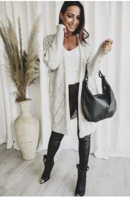 kardigan długi sweter maxi