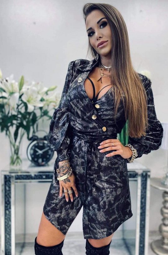 sukienka nabłyszczana