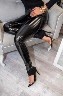 Spodnie latexowe czarne...