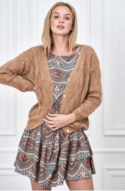 rozpinany sweterek,jasny sweterek ,elegancki sweterek,sweter na jesień,sweter na wiosnę