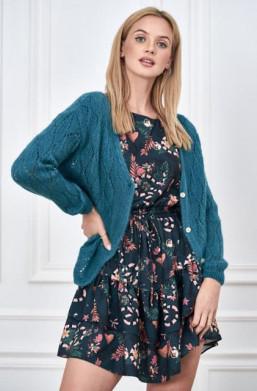 cienki sweterek,sweterek rozpinany,sweterek lalous,morski sweterek,sweterek na wiosnę,jesień