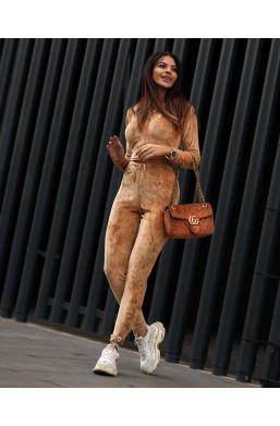 KOMPLET dres comfort look camelowy O LA VOGA,wygodny komplet,damski komplet dresowy,sportowy strój