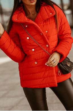modna kurtka,elegancka kurtka,pikowana kurtka,kurtka na zatrzaski