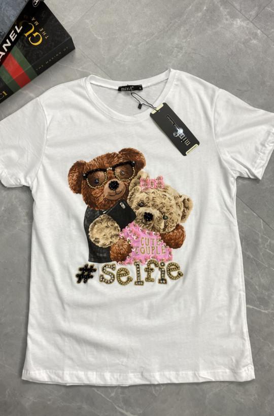 bluzka z misiem, t shirt z misiem, t shirt z nadrukiem,koszulka na krótki rękaw,najlepsze ceny,ciechanów